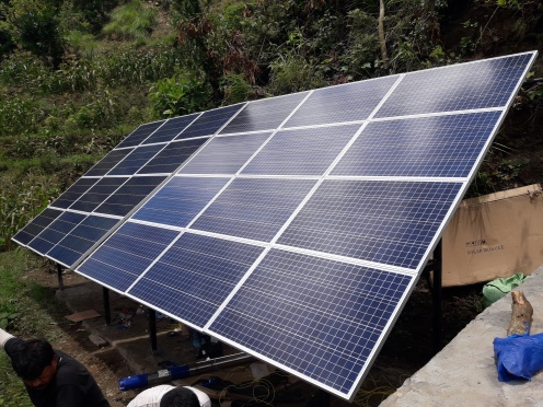 Installation of 2HP Solar Water Lifting System for drinking Purpose By Drinking Water Department of Bharatpur