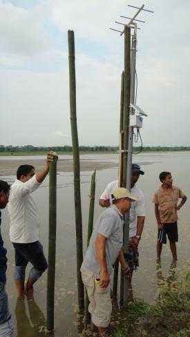 Transmitter unit present at River, Assam, India